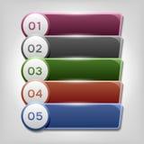 Infographicsontwerp Royalty-vrije Stock Foto's