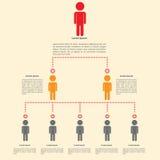 Infographicsontwerp van de organisatiegrafiek Stock Fotografie
