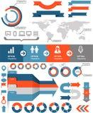 Infographicspictogrammen Stock Fotografie