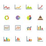 Infographicspictogrammen Royalty-vrije Stock Afbeeldingen