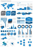 infographicsset Royaltyfri Fotografi