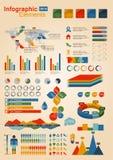 infographicsset Royaltyfria Foton