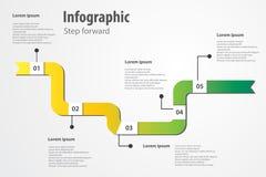 Infographicstap voorwaarts Royalty-vrije Stock Foto's