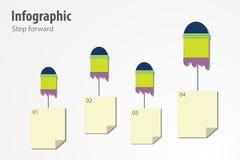 Infographicstap voorwaarts Stock Afbeelding