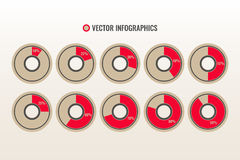 Infographicsvector Royalty-vrije Stock Foto