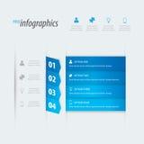 Infographicsvektor för fyra alternativ. Arkivbild