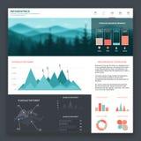 Infographicwebsite Royalty-vrije Stock Foto