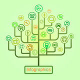 Infographie Photos stock