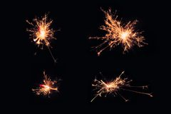 Infographies légères noires utilisées dans les cérémonies Placez Noël de cierges magiques et la partie de nouvelle année dans l'a Photographie stock