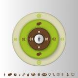 Infogrphic设计模板 与象的目标 向量 免版税库存图片
