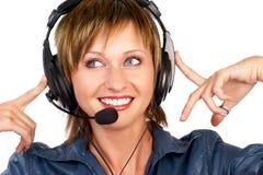 infolinia uśmiecha operatora zdjęcie stock