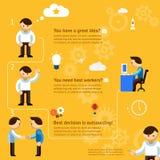 Inforgaphics circa l'esternalizzazione di affari Fotografia Stock