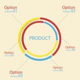 inforgraphic Design der Elemente 3D Lizenzfreies Stockfoto