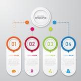 Inforgraphic sztandaru szablon Fotografia Stock