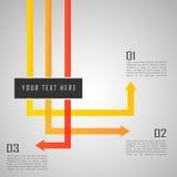 Inforgraphic-Verbindungsschablone mit Pfeilen Stockbilder