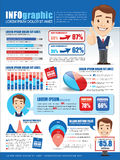 Inforgraphics with businessman Royalty Free Stock Photo