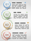 Inforgraphics Design Template Royalty Free Stock Images
