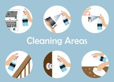 Free Inforgraphics Of Cleaning Points Areas Stock Image - 188361941