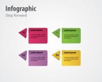 Inforgraphicstap voorwaarts Royalty-vrije Stock Foto's