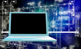 Informática da engenharia Foto de Stock Royalty Free
