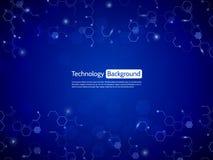 informática da Olá!-tecnologia Conceito abstrato do circuito no bl Fotografia de Stock