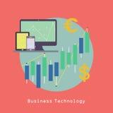 Informática do negócio com PC da tabuleta e manutenção programada Fotos de Stock