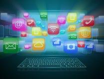 Informática e computação da nuvem Imagens de Stock Royalty Free