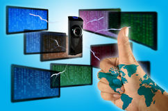Informática e os povos fotografia de stock