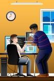 Informáticos que trabajan en la oficina ilustración del vector