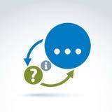 A informação analisa e troca o ícone do tema, vetor Imagens de Stock