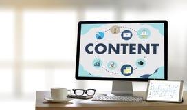 Informação Blogging Vi da publicação dos meios dos dados SATISFEITOS do mercado fotografia de stock royalty free