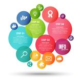 informação colorida do negócio gráfica Fotografia de Stock Royalty Free