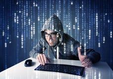 Informação da descodificação do cabouqueiro da tecnologia de rede futurista Imagem de Stock