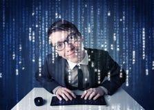 Informação da descodificação do cabouqueiro da tecnologia de rede futurista Imagens de Stock Royalty Free