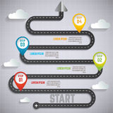 Informação da estrada e projeto infographic do espaço temporal pode ser usado para Fotos de Stock Royalty Free