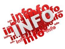 Informação da palavra Imagem de Stock