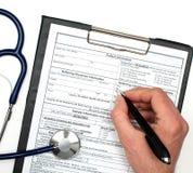 Informação do paciente Imagens de Stock