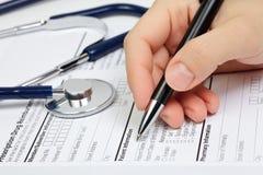 Informação do paciente de Rx Fotos de Stock