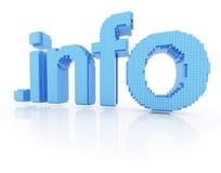 Informação do ponto do símbolo do domínio do pixel Fotos de Stock