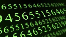 Informação dos network number da matriz da informática do código que programa o vídeo digital do fundo video estoque
