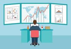 Informação e desenvolvimento da analítica da Web Ilustração do Vetor