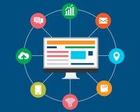 Informação e finança da conexão Fotografia de Stock
