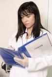Informação entrando do paciente fotografia de stock