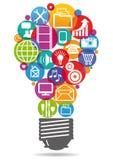 Informação-gráfico das ideias Fotos de Stock