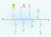 Informação-gráfico do espaço temporal Fotografia de Stock Royalty Free