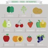 Informação-gráficos do alimento biológico ilustração royalty free
