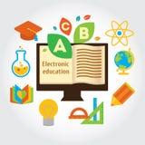 Informação grafic sobre a educação e a ciência eletrônicas Imagem de Stock Royalty Free