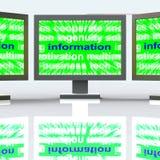 A informação monitora fatos ou notificação dos detalhes dos meios ilustração stock
