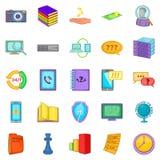 A informação para ícones da venda ajustou-se, estilo dos desenhos animados ilustração royalty free