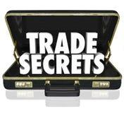 Informação proprietária Intelle do negócio da pasta dos segredos comerciais Fotografia de Stock Royalty Free